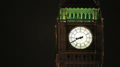 Parliament Big Ben at night 8.40 pm - stock footage