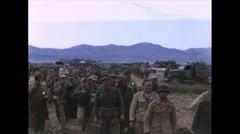 WW2-Color720p-GermanAndItalienPriseners01 Stock Footage