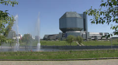 The National Library of Belarus, Minsk Stock Footage
