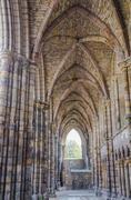Holyrood Abbey in Edinburgh, Scotland - stock photo