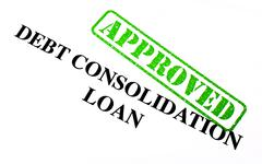 Approved Debt Consolidation Loan - stock photo