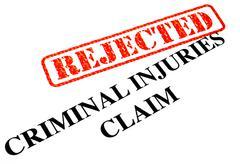 Unsuccessful Criminal Injuries Claim - stock photo