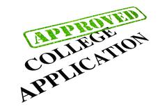 Approved College Application - stock photo