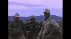 WW2-Color720p-GermanAndItalienSoldiersCapturedInTunesia01 Stock Footage