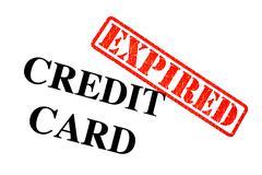 Credit Card Expired Stock Photos