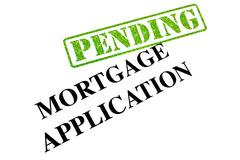 Mortgage Application Pending Stock Photos