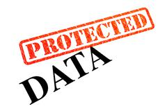 Data Protected - stock photo