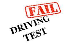 Driving Test Fail - stock photo