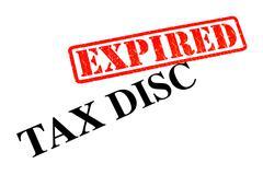 Tax Disc Expired Stock Photos