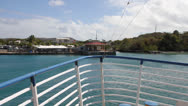 Stock Video Footage of Ferry Approaches pier - Culebra