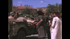 WW2-Color720p-ItalienCiviliansWelcomeUSsoldiers02 - stock footage