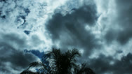 Stock Video Footage of Three wind streams with clouds