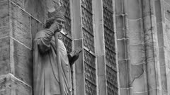 Religion - bas-relief- church Stock Footage