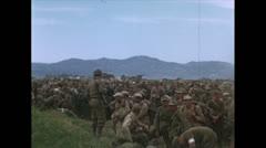 WW2-Color720p-ItalienPrisenersGuardedByUSsoldiers02 Stock Footage