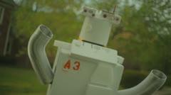 Retro futuristic robot robotic  day 2 Stock Footage