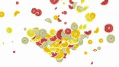 Citrus fruits shaping a heart Stock Footage