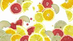 Citrus fruits background Stock Footage