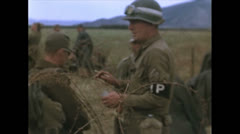 WW2-Color720p-US-MP-CountingPrisenersInTunesia01 Stock Footage