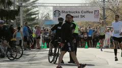 Start of a Marathon Race Stock Footage