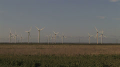 Wind TURBINE Farm LONG Shot Stock Footage