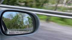 Rear View Mirror Driving Stock Footage
