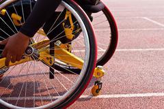 wheelchair sportsmen - stock photo