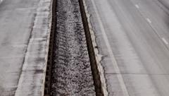 Country highway, winter Stock Footage