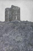 Drawing of a ruin of a castle Stock Illustration