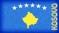 Stock Illustration of linen flag of kosovo