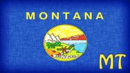Stock Illustration of linen flag of the us state of montana