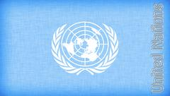 linen flag of the un - stock illustration