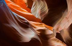 Abstact shapes of antelope canyon, arizona, usa Stock Photos