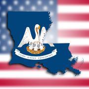Kartta Louisianan Piirros
