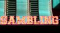 Flashing Neon 'Gambling' Sign HD Footage