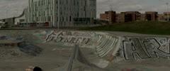 Skateboarder Backflip on Ramp Stock Footage