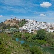 Panorama of arcos de la frontera, andalusia, spain Stock Photos