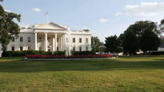The White House with blue sky Stock Footage