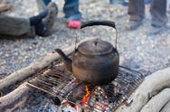 Romanitic campfire Stock Photos