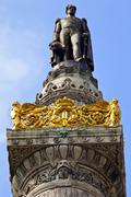 King Leopold I statue on the Congress Column in Brussels. Stock Photos