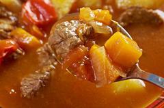 Stock Photo of traditional bulgarian soup chorba.