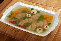 Aspic from meat Stock Photos