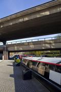 The Westway over the Regents Canal in Paddington, London - stock photo