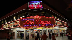 Fabulous Las Vegas Jewellery and Gift Shop Stock Footage