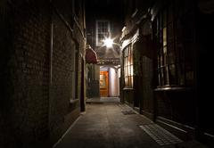 Old Fashioned London Alleyway Stock Photos