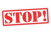 Stock Illustration of STOP!