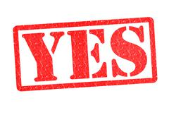 YES rubber stamp - stock illustration