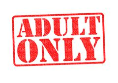 ADULT ONLY rubber stamp Stock Illustration