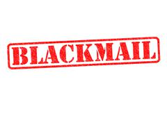 BLACKMAIL rubber stamp - stock illustration