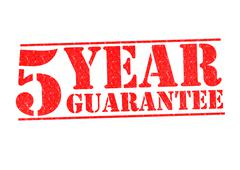 5 YEAR GUARANTEE Stock Illustration