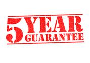 Stock Illustration of 5 YEAR GUARANTEE